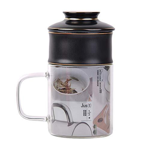 ZH1 Tetera de Vidrio de Alto Grado y hervidor, Filtro de Acero Inoxidable, Seguridad, Transparente, Duradero, Adecuado para té a Granel, Regalo