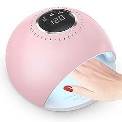 Nageltrockner, 84W UV LED Nagellampe für Nägel, 30/60/120s Timer, Infrarot Sensor, LCD Display Touchscreen, Geeignet für alle Gel
