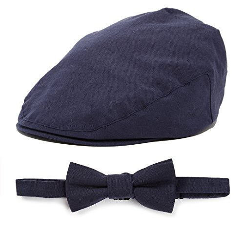 Baby Driver Cap and Bow tie Sets SM 52 cm Navy Bow tie