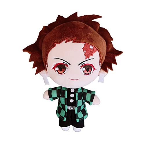 Demon Slayer Anime Charakter Plüschtier Puppe Kimetsu no Yaiba super süße weiche Puppe Baumwolle ausgestopfte Puppe Spielzeug Anime Fan extrem Sammlerstück Geschenk 8 Zoll (Kamado Tanjirou)