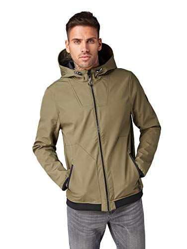 TOM TAILOR Denim Herren Jacke , Grün (Grape Leaf Green 10669) , Medium