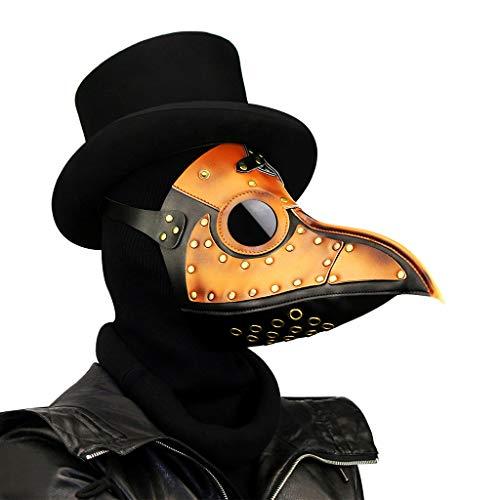 Daka Halloween-Maske, Steampunk Plague Beak Maske, Qualitäts-PU-Leder Weihnachten Masquerade Rollenspiele