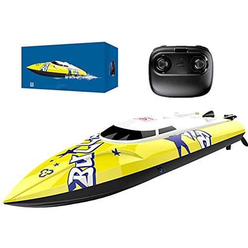 RC-Schnellboot, 2,4 GHz Hochgeschwindigkeits-Fernbedienungsboot für Pools und Seen, Selbstaufrichtendes Schnellboot, ferngesteuertes Boot Wiederaufladbare Batterien Spielzeuggeschenk für Kinder und