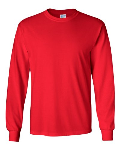 Adult Ultra Cotton� 6 oz. Long-Sleeve T-Shirt RED 4XL