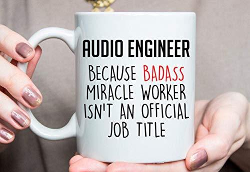 N\A Regalo para Ingeniero de Audio, Taza de Ingeniero de Audio, Mejor Ingeniero de Audio de Todos los Tiempos, Ideas de Regalo para Ingeniero de Audio, Ingeniero de Audio
