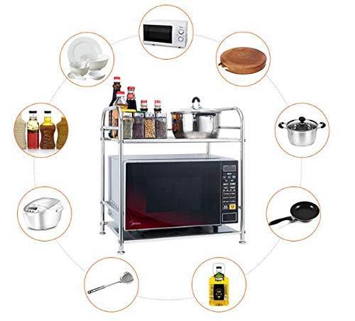 Detazhi Cocina Doble Capa Acero Inoxidable Microondas Horno Multifunción Horno Rack Sazonador Pot Storage Rack Suelo, L (Size : Xxlarge)