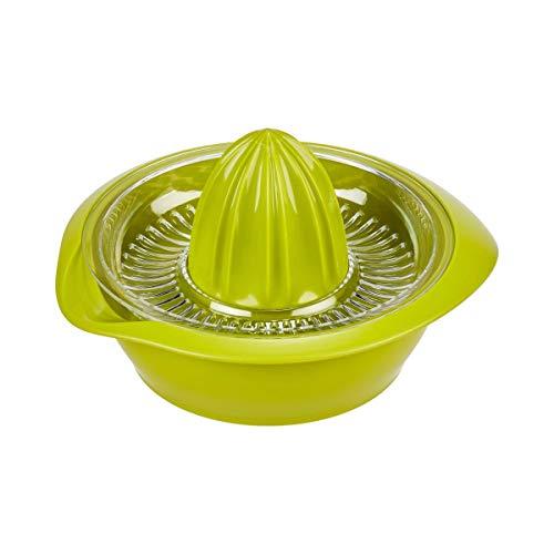 Westmark Zitronen-/Zitruspresse mit Behälter, Durchmesser: 18,7 cm, Fassungsvermögen: 0,5 Liter, Kunststoff, Limetta, Apfelgrün, 3091227A
