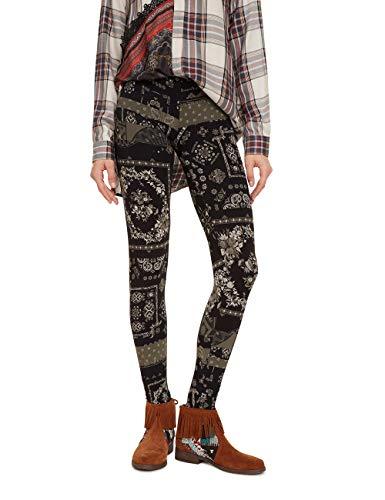 Desigual Damen Hosiery SERENNA Leggings, Grau (Gris Alquitran 2022), W(Herstellergröße: XL)