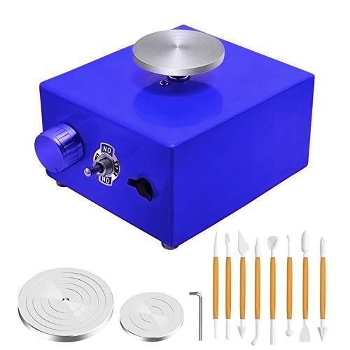 InLoveArts Mini Roue de poterie Table tournante électrique de 6,5 cm à 10 cm Outil d'argile Bricolage du Bout des Doigts avec Plateau pour Le Travail de la céramique