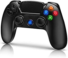 Gamory Mando Inalámbrico para PS4, Mando para PS4/Pro/Slim/PC, Controlador inalámbrico, Gamepad Wireless Bluetooth Controlador Joystick con Vibración Doble Remoto/Turbo/Panel táctil