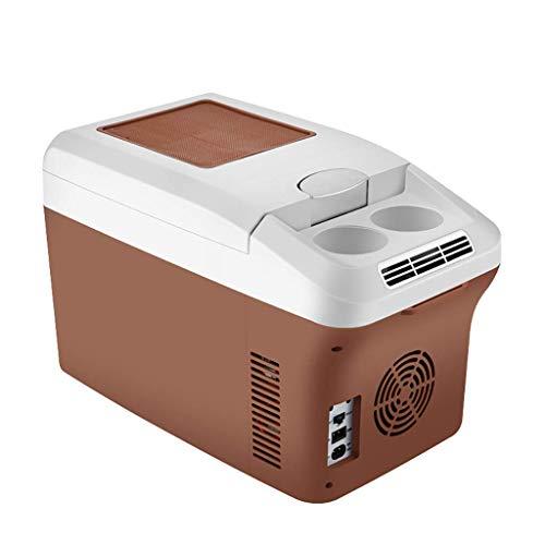 Refrigerador de Viaje eléctrico y refrigerador portátil de 15 litros con Cables de alimentación con CA y CC para el automóvil para el hogar y el refrigerador Mini Coche para Acampar WKY