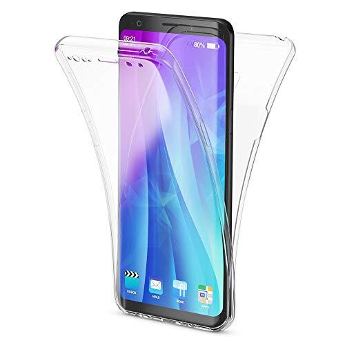 NALIA 360 Grad Hülle kompatibel mit Samsung Galaxy S9, Full Cover vorne und hinten R&um Doppel-Schutz, Dünnes Ganzkörper Hülle Silikon Etui, Transparenter Bildschirmschutz und Rückseite, Farbe:Transparent