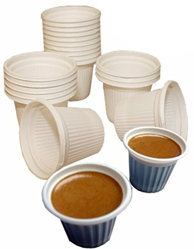 Mini disposable Cuban Style and espresso coffee cups 3/4 oz. Pack of 250
