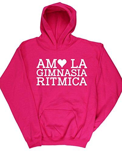 HippoWarehouse AMO LA GIMNASIA RITMICA jersey sudadera con capucha suéter derportiva unisex niños niñas