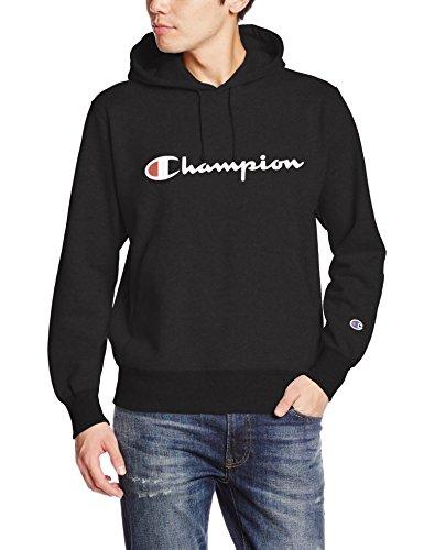 [チャンピオン] (旧モデル) パーカー スウェット 裏毛 定番 スクリプトロゴ フーデッドスウェットシャツ C3-J117 メンズ ブラック S