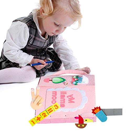 DIY布絵本子供布絵本ベビーおもちゃ学習多機能手作りブックソフトブック赤ちゃん想像力破れない布の玩具視覚聴覚出産祝いプレゼント