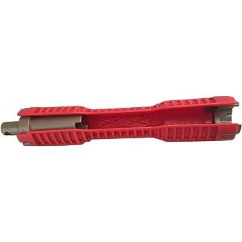 Multiusage Plomberie Outil R/éparation Installation des Outils /à Main Magiin 1pc Robinet et Evier Installateur Outil Cl/é Serre-Tube avec Poign/ée Anti-d/érapante
