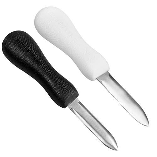 Cabilock 2 Piezas Cuchillo de Descortezado de Almejas de Ostras de Acero...