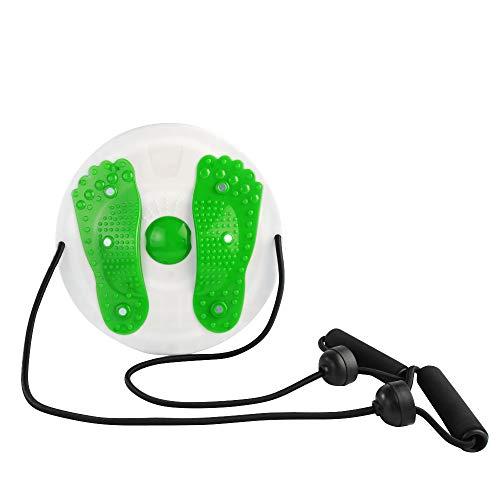 SXWZ - Disco de torsión de cintura, masajes de pies con cuerda de pilates, tabla de torsión de cintura, equipo de fitness abdominal interior para mujeres, Verde