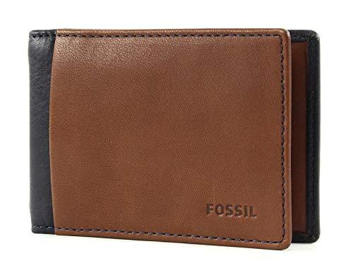 Fossil Geldbörse Ward Money Clip Bifold Braun Dollarclip Geldbeutel Leder Brieftasche Börse Geldklammer Geldspange