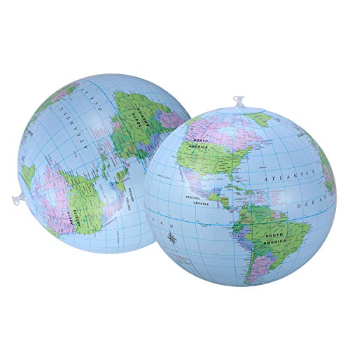 VOSAREA Wasserball Spielzeug Globus Karte Muster Wasser Spielen Ball Pool Party Supplies Für Kinder Kinder 2 stücke