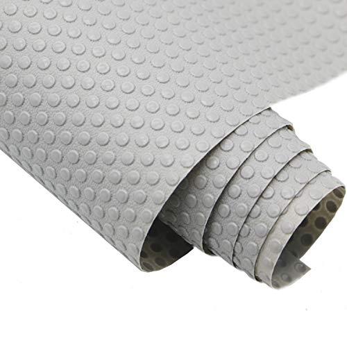 Hersvin 30cmx150cm Plastico Protector para Cocina Cajones, Alfombras Antideslizante Non Adhesivo para Nevera Mueble Fregadero Estante Organizador Cubiertos EVA Cubre Encimera(Gris Claro/Punto)