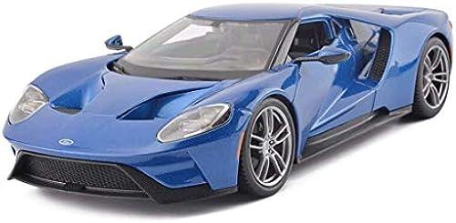 KKD Scale-Modellfahrzeuge Simulation Modell Auto Ford GT Sportwagen Modell 1 18 Modellbau Modellsammlung Dekoration Ornamente Sammlung Hobby Mini Fahrzeuge