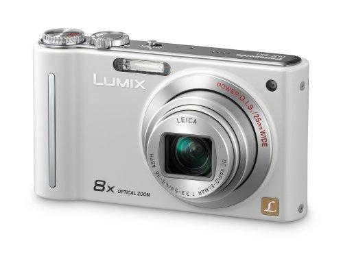 Panasonic LUMIX DMC-ZX1 Digitalkamera EG-W (12 Megapixel, 8-fach opt. Zoom, 6,9 cm (2,7 Zoll) Display, Bildstabilisator) perlmuttweiß