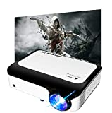 """BRILENS Native 1920X1080P Movie Projector 6000LUX Full HD Video Projector 300"""" Display 4K Input Supported Home Theater Mini Projector Compatible with Stick HDMI USB AV TVBOX PS5 Smartphone Laptop"""