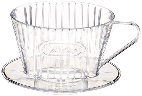 メリタ Melitta コーヒー ドリッパー 日本製 計量スプーン付き プラスチック製 1~2杯用 クリア コーヒーフィルターシリーズ SF-M1×1