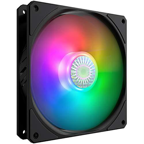 Cooler Master SickleFlow 140 V2 ARGB - Compatibile con scheda madre ARGB, lame traslucide del bilanciamento dell'aria, 67 CFM, 2,2 mmH2O, da 10 a 27 dBA - ARGB