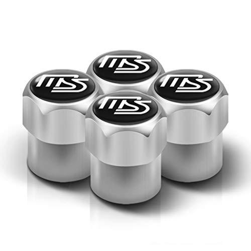 Wlkjhty 4 Piezas para Mazda MS 5 6 323 626 RX8 7 MX3 MX5 CX-5 Atenza Axela Tapas de Metal para válvula de neumáticos de Coche, Tapas para Válvulas de Neumáticos con Anillos de Goma, Tapón de Polvo