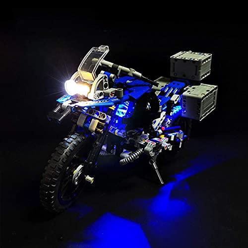 KCGNBQING NLNE LED-Beleuchtungsset für Technik BMW R 1200 GS Adventure Motorrad - Kompatibel mit Lego 42063 Bausteinen Modell Puzzle-Baugruppe