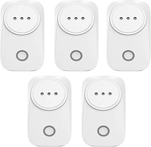BCDL 16A Smart Home Plug, Control Remoto inalámbrico WiFi Interruptor de Tiempo de Tiempo de Tiempo de Móvil con Alexa (Echo y Echo Dot) Google Home 1127 (Size : IT 5pcs)