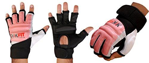 KIKFIT Piel Body Gel Guantes MMA Boxeo Saco de Boxeo Artes Marciales Karate Guantes UFC