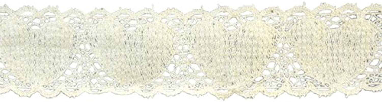 Belagio Enterprises 11 2inch Heart Cotton Cluny Lace Trim 25 Yards, Ivory