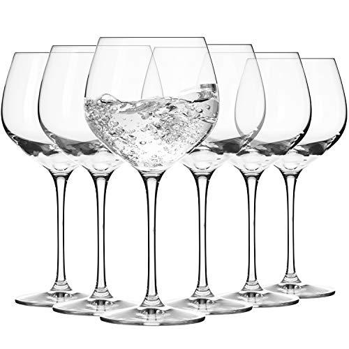 Krosno Copas para Cóctel Gin Balón Agua | Conjunto 6 Piezas | 570 ml | Harmony Collection Casa, Restaurante y en Las Fiestas | Apta para Lavavajillas y Microondas