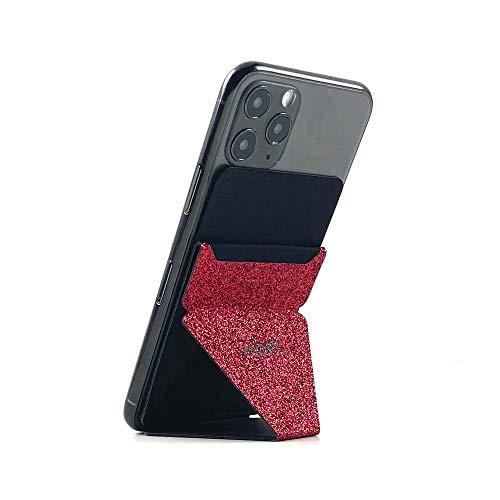 MOFT - Soporte Móvil,Soporte Teléfono con Ranura para Tarjeta,Ultra Ligero,Soporte Compatible para para iPhone,Samsung,Huawei,LG Y Otras Smartphones - Rojo