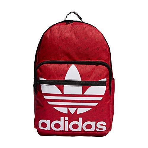 adidas Originals Unisex Trefoil Pocket Backpack, Scarlet Monogram, ONE SIZE