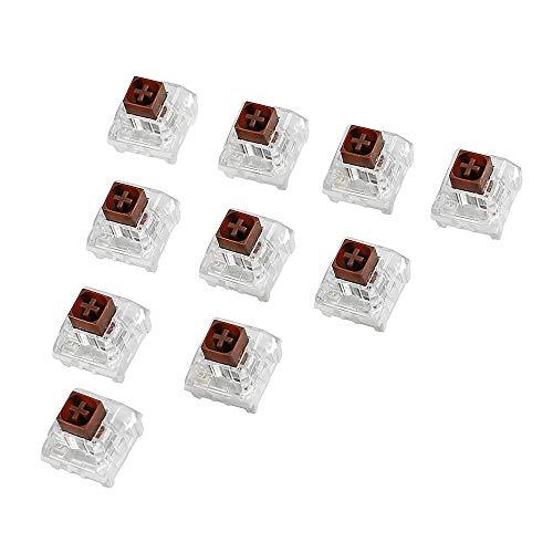 XiaoMall Kailh Box Tastatur-Schalter für mechanische Gaming-Tastatur, Braun, 10 Stück