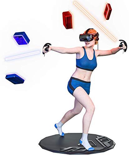 Skywin VR-Matte rund – Virtual Reality Matte hilft dabei, die Richtung und Position Ihrer Füße während des Spiels zu bestimmen, verhindert, dass Spieler Gegenstände in Umgebungen treffen und brechen.