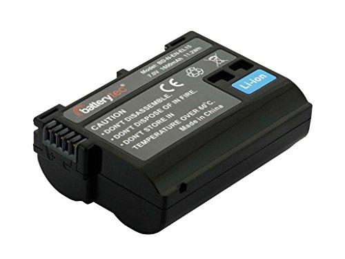 Batterytec® Batería de Repuesto para Nikon cámara EN-EL15, D7000 D7200 D7100 D750 D600 D810 D610 D750 D800E D810A D800 Digital SLR cámara[Recargable, 12 Meses de garantía]