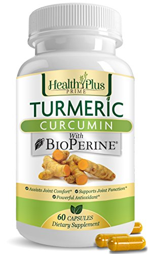 Turmeric Curcumin Pills with Bioperine, Natural Pain Relief and Joint Support with 95 Percent Curcuminoids, All Natural Curcumin Supplements, Highest Potency Organic Turmeric Capsules, USA Made