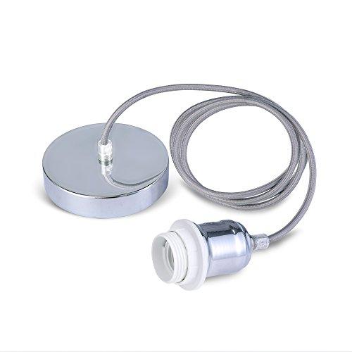 Supporto per lampadina con cavo intrecciato e flessibile, kit per lampada a sospensione, portalampada