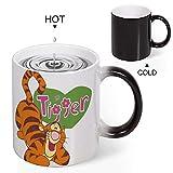 Color Changing Mug Heat Sensitive Coffee Mug Unique Ideal Gifts For Friend Kids Mom Dad-Tigger Smile