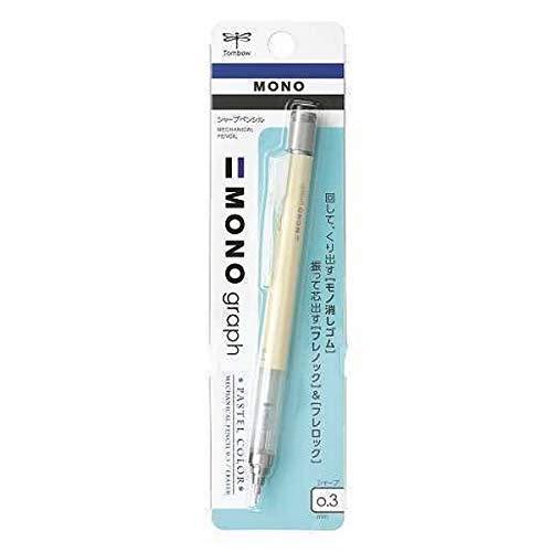 トンボ鉛筆 シャープペン モノグラフ03 パステルカラー クリームイエロー DPA-137B 【× 5 本 】