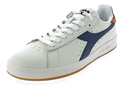 Diadora Sneakers Uomo Game L Low 501.172526-C8572 Bianco/Blu/Papavero 10.5-45 EU
