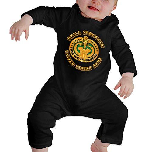 Elegante hogar ejército taladro sargento bebé mameluco manga larga mono novedad recién nacido trajes regalo para recién nacido Multicolor multicolor 0-6 Meses
