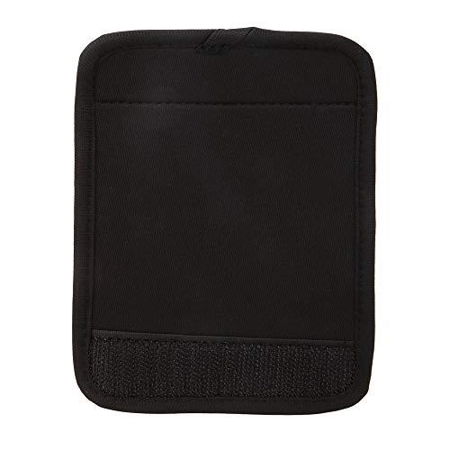 Cubierta de agarre de neopreno portátil para equipaje, suave para puerta de coche, carrito de compras, icycle para cochecito, silla de ruedas, bicicleta(negro)