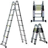 Escalera Plegable Aluminio de 5 m ,Escalera...